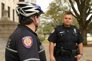 Two UPD Officers talking.